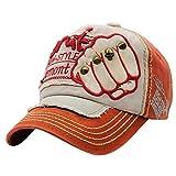 UFACE Stickerei-Buchstabe-Faust-Niet-Baseballmütze-Visier Sommer-Niet-Kappen-Hüte für Männer Frauen (Orange)