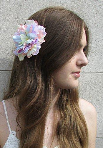 Grand arc-en-ciel pastel Clip Cheveux Fleur Pivoine Rose Corsage Festival Bibi Y03 * * * * * * * * exclusivement vendu par – Beauté * * * * * * * *