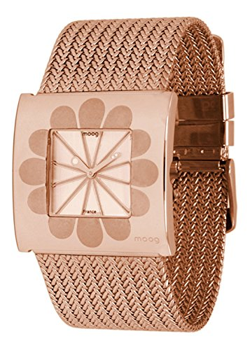 Moog Paris Petals Women's Watch with Rose Gold Dial, Rose Gold Strap in Stainless Steel - M41744-005