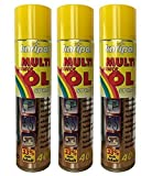 3 x 400ml karipol Multi Kriech-ÖL-Spray, ÖL-Spray, Fahrradöl, Feinmechaniköl, Nähmaschinenöl