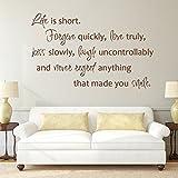 Das Leben ist kurz Forgive Quickly Mark Twain Zitat Wörter Wand Motivation Benutzerdefinierte Vinyl Kunst Aufkleber (custom, X Large)
