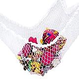 Bomien Spielzeughängematte Spielzeugnetz Drei Ecke Netz Kinderzimmer Toy Organizer Für