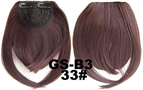 # 33 100% fibre synthétique haute température Clip dans/sur cheveux avant frange frange cheveux