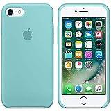 Desconocido Funda para iPhone, Silicona Azul Turquesa Verde Turquesa Logo Apple Carcasa iPhone (iPhone 6 / 6S (4.7'))