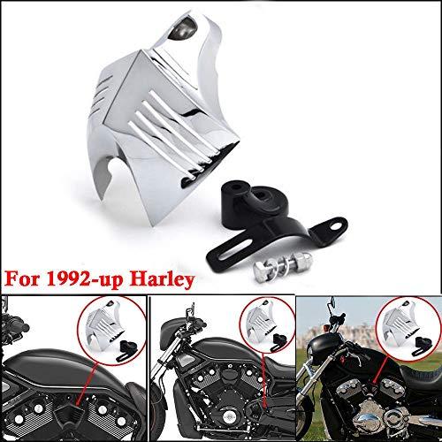 Moto Klaxon Cache Chromé Louvered Corne Horn Cover pour 1992-2014 Harley Davidson V Twin Cam style