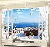 zhimu Papiers Peints Personnalisé 3D Photo Paysage Marin Plage Palm Revêtement Mural Rouleau pour Salon Chambre Fond Papier Peint Salle 140cmx100cm