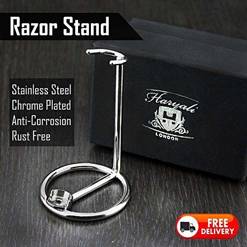 Messieurs Support Stand avec en acier inoxydable (Finition chromée) de Rasoir pour tous les types.
