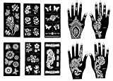 Gilded Girl Self-Adhesive Stencils for Henna Tattoos - Pack of 10