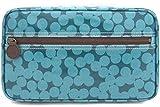 Große Designer Kosmetiktasche Waschtasche THE BLUE DOT petrolblaues Punktemuster- sehr stylish
