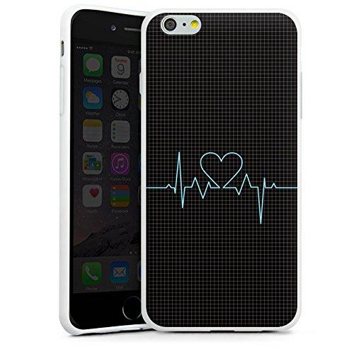 Apple iPhone X Silikon Hülle Case Schutzhülle Herz Liebe Herzschlag Silikon Case weiß
