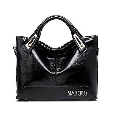 Vintage fashion Genuine ncient ways oil wax leather Soft Leather Tote Shoulder Bag Leather Satchel Briefcase Handbag…