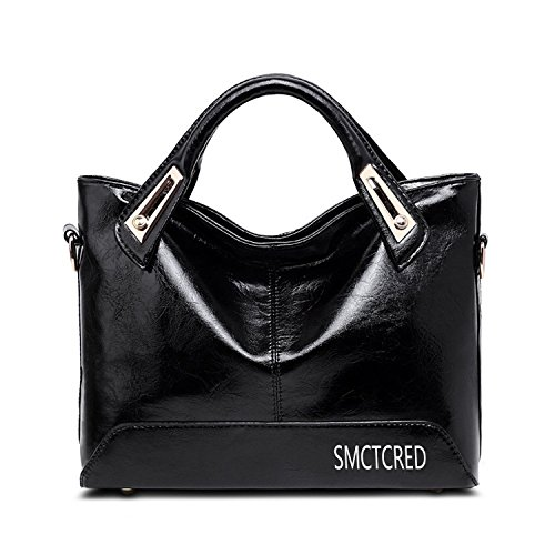 - 51s 2BZQutlCL - Vintage fashion PU leather Genuine ncient ways oil wax leather Soft Leather Tote Shoulder Bag Leather Satchel Briefcase Handbag Hand Bag Bags Purse Tablet, iPad Bag (Orange)