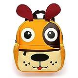 BTSKY Cartera Escolar Infantil con Asa Doble Mochila Graciosa con Diseño de Animales como Mono Perrito Tigre Jirafa Ligero Tamaño Perfecto para Niños de 1-5 Años(Perrito)