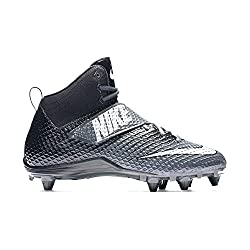 Nike Lunarbeast Pro TD Football Cleats (10.5, Anthracite / Metallic Silver-black)