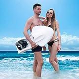 WXX Tabla de natación eléctrica para Adultos, Tabla de paletas con Motor eléctrico, Sistema de Aprendizaje, Ayuda en la Seguridad de natación en Piscinas,White