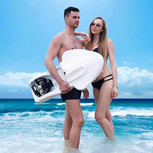 WXX Erwachsene Elektro Schwimmbrett, E-Kick-Brett Paddle Board mit Motor, Lernen Pool Schwimmen Sicherheit Aid,White