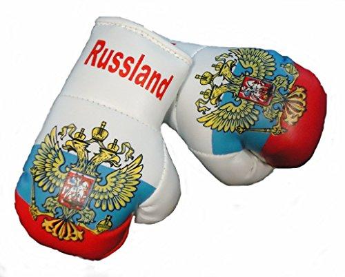 Mini Boxhandschuhe RUSSLAND, 1 Paar (2 Stück) Miniboxhandschuhe z. B. für Auto-Innenspiegel