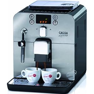 Gaggia Brera Black Macchina da Caffè Automatica, per Espresso e Cappuccino, Caffè in Grani o Macinato, 1400 W, RI9305/11