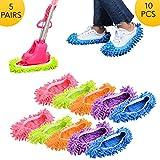 WIKEA Pantofole lavapiatti in Microfibra Lavabili e riutilizzabili, Copri Scarpe Bagno Cucina detergenti per la casa per casalinghe 10 Pezzi (5 Paia)