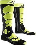 X-Socks Ski Control 2.0, Calze Uomo, Antracite/Verde Lime, 42/44