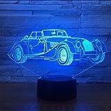 Fushoulu Retro-Lampen-Visuelle Led-Nachtlichter Der Retro- Oldtimer-3D 7 Für Kinder Berühren Usb-Tabelle