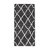 Nazar Asma Shaggy berberbere Teppich, 100% Polypropylen, 80 x 140 cm, Grau/Anthrazit