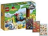 Duplo Lego 10879–Jurassic World Dino de streichel Zoo, de juguetes para niños pequeños + dinosaurios Pliego de pegatinas