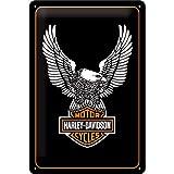 Nostalgic Art 22136 HarleyDavidson Eagle Logo Metal Sign 20 x 30 CM