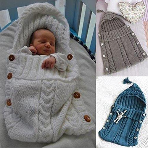 Schlafsack für Baby Solide Neugeborenen Baby Wrap Swaddle Decke Baby Kinder Kleinkind Stricken Decke Swaddle Schlaf Sack Juleya