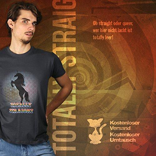 Totally Straight Unicorn - Herren T-Shirt von Kater Likoli Anthrazit