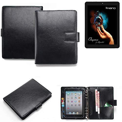 K-S-Trade® Tablet-Case Und Organizer Kombination Für Kiano Elegance 8 3G Mit Ringbucheinlage Schwarz. Kunstleder Qualitätsware (1x)