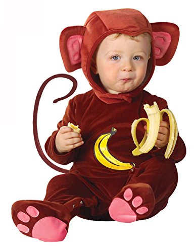 KULTFAKTOR GmbH Kleiner AFFE Babykostüm Schimpanse braun 92 (1-2 - Freche Banane Kostüm