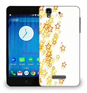 Snoogg Small Yellow Stars Printed Protective Phone Back Case Cover For Micromax Yu Yureka
