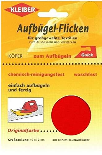 kleiber-40-x-12-cm-grand-patch-reparation-thermocollant-coton-rouge