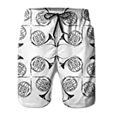 Photo de ZKHTO French Horn Quartet Men's Beach Shorts,Funny Lightweight,Breathable and Comfy Swim Trunks,3D Digital Printing - No Odor, No Fade,Shorts Size XXL par ZKHTO