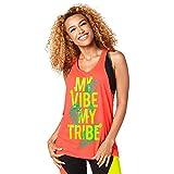Zumba Fitness Damen Vibe My Tribe Loose Tank Frauentops Coral Craze XS