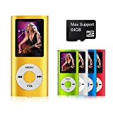 MYMAHDI - Digital, Compact and Portable MP3 / MP4 Player ( Max support 64 GB Micro SD Card ) with Photo Viewer, E-Book Reader and Voice Recorder and FM Radio Video Movie in Gold