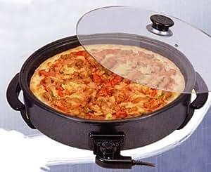 Piccoli Elettrodomestici - Plaque électrique cuocipizza plaque à pizza four avec couvercle en verre, diamètre CM40, la puissance 1700watt