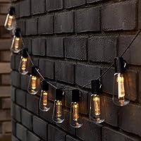 Homezone® 10 Set Retro Edison Bulb Solar Power Garden LED String Lights Warm White Hanging Lights 3.5m Garden Decor Outdoor Lighting Party Lights Fairy Lights (Warm White)
