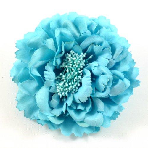 rougecaramel - Accessoires cheveux - Broche fleur/pince cheveux mariage 11cm - bleu