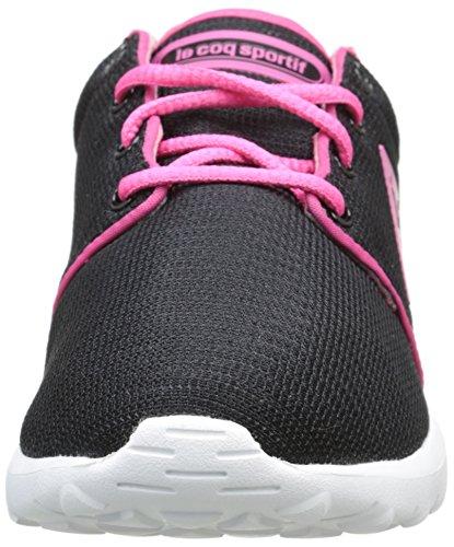 Le Coq Sportif Dynacomf Gs Mesh Unisex-Kinder Sneaker Schwarz - Noir (Black/Honeysuckle)