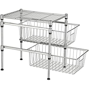 under cabinet basket kuanguang stackable 2 tier sink cabinet sliding 27459