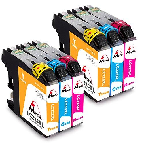 Mipelo Ersatz für Brother LC223 Druckerpatronen Hohe Kapazität Gilt für Brother MFC-J5320DW MFC-J5620DW MFC-J5720DW DCP-J4120DW MFC-J4420DW MFC-J4620DW DCP-J562DW MFC-J480DW, 2 Cyan/2 Magenta/2 Gelb