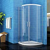 900 x 900 mm Quadrant Shower Enclosure 6mm Easy Clean Glass Sliding Shower Cubicle Door