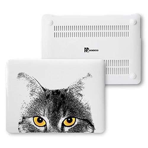 MacBook Air 13Fall, Kunststoff Hard Shell Snap On Schutzhülle für MacBook Air 33cm (A1466& A1369) 13 Inches Cat Face (In Speck Air Den In Fällen, Macbook 13)