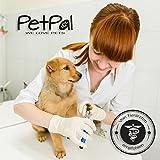 Professionelle Krallen-Schere von PetPäl Krallen-Zange in Tiersalon Qualität | Krallenschneider +2 Gratis Abstracts | DAS ideale WEIHNACHTS-GESCHENK | Krallenpflege für kleine, mittelgroße & große Hunde, Katzen, Kaninchen, Meerschweinchen & andere Nager | Pfotenschere mit Sicherheitsverschluss | Nagelpflege für alle Rassen | Nagelzange mit Sicherheits-Abstandhalter - 3