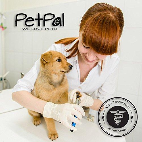 Professionelle Krallen-Schere von PetPäl Krallen-Zange in Tiersalon Qualität | Krallenschneider +2 Gratis Abstracts | DAS ideale WEIHNACHTS-GESCHENK | Krallenpflege für kleine, mittelgroße & große Hunde, Katzen, Kaninchen, Meerschweinchen & andere Nager | Pfotenschere mit Sicherheitsverschluss | Nagelpflege für alle Rassen | Nagelzange mit Sicherheits-Abstandhalter - 4