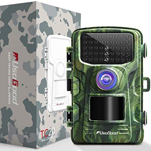 """usogood Wildkamera Fotofalle 14MP 1080P Wildkamera mit Nachtsicht Bewegungsmelder Wasserdicht Outdoor Überwachungskamera mit 2.4\"""" LCD Display für Natur, Garten, Haussicherheitsüberwachung"""