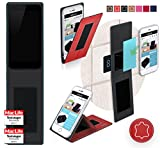 Obi Worldphone MV1 Hülle Cover Case in Rot Leder -