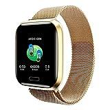 Beisoug_Watch Pulsera Elegante del Reloj Elegante del Monitor del Ritmo cardíaco de la presión Arterial de la Pantalla a Todo Color de Redvive 1.3inch
